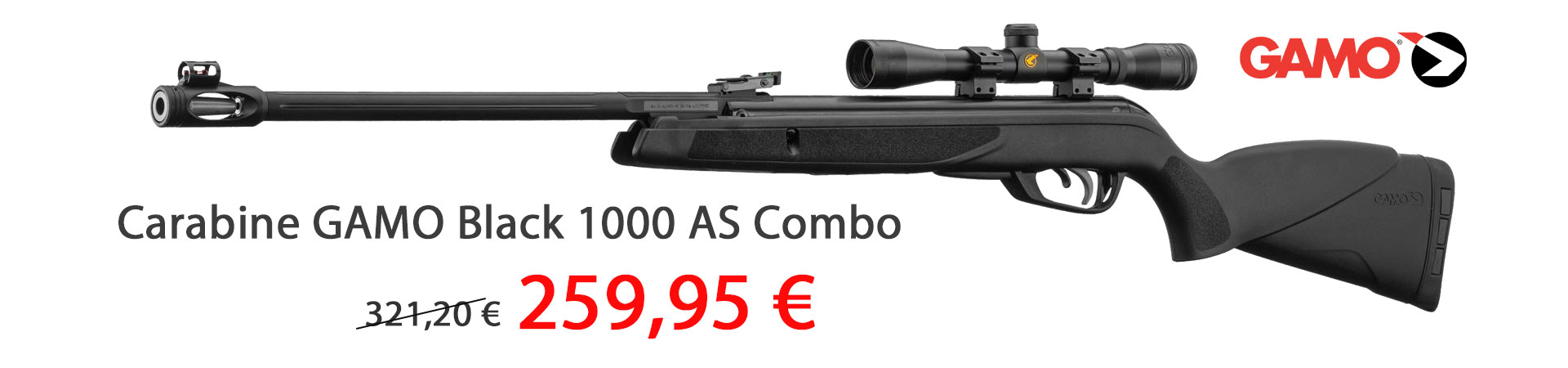 Carabine GAMO Black 1000 AS Combo