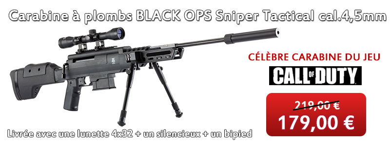 Carabine � plombs BLACK OPS Sniper Tactical calibre 4.5