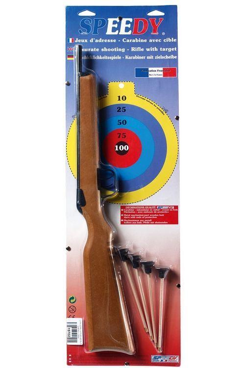 Carabine ou Pistolet SPEEDY Set de 4 Flechettes Ventouse pour Fusil
