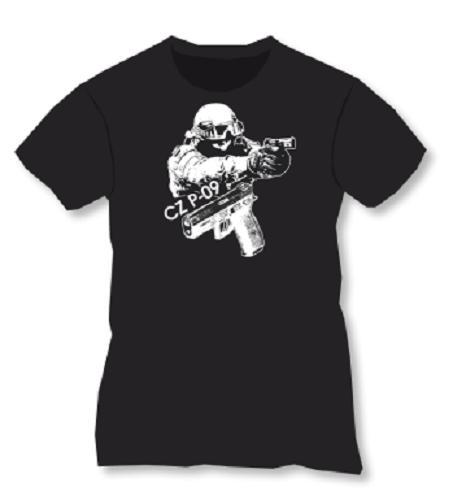 T-Shirt noir CZ P-09 Taille. M