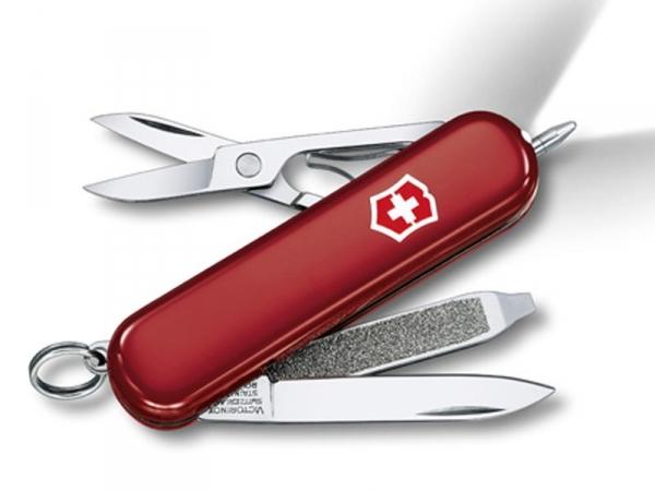 VICTORINOX SIGNATURE LITE ROUGE - Petit couteau poche polyvalent 7 fonctions