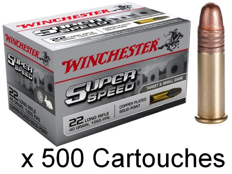 WINCHESTER Super Speed 22 Lr Pointe pleine (Grande Vitesse) /500
