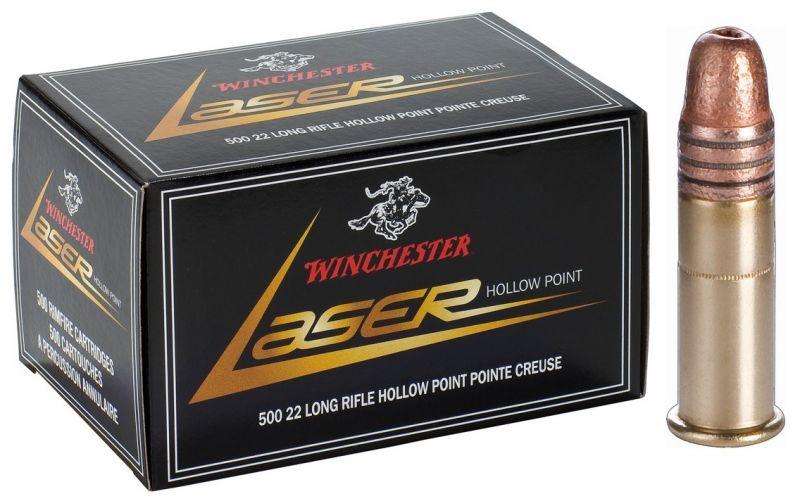 WINCHESTER Laser 22 Lr Pointe creuse (Spécial longue distance) /50