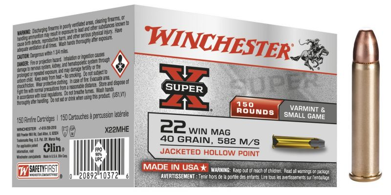 WINCHESTER 22 Magnum Hollow Point 40 gr /150
