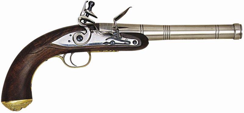 Pistolet à poudre noire PEDERSOLI Queen Ann à silex Cal.50