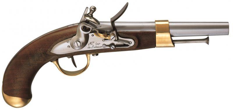 Pistolet à poudre noire PEDERSOLI AN XIII à silex Cal.69