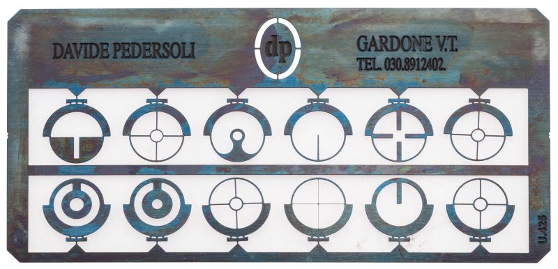 Kit 12 inserts pour guidon PEDERSOLI