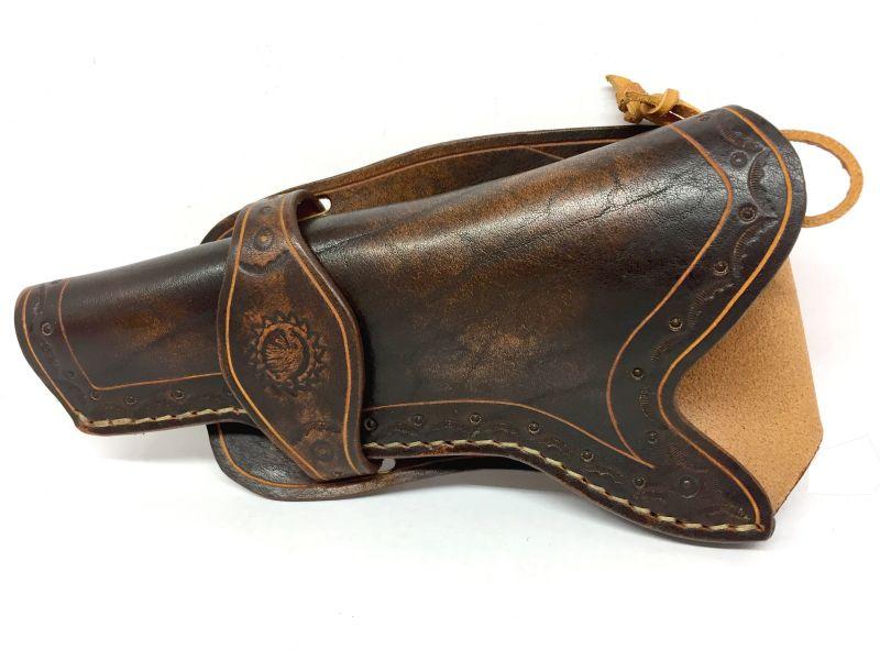 Holster Gaucher en cuir Western pour revolver 6