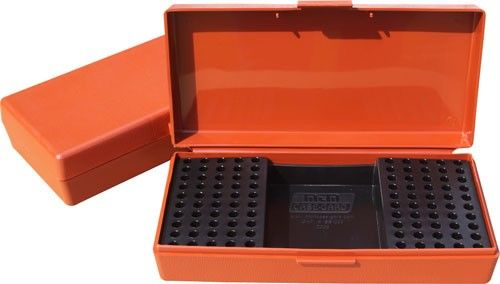 Boite à munitions MTM SB-200 Orange cal.22 Lr/17 Hmr