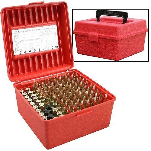 Boite à munitions universelle MTM R-100 Rouge