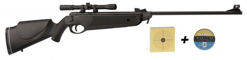 "Carabine à plombs BEEMAN BAY CAT Cal.4,5 mm ""Pack lunette 4x20"" 16 joules"