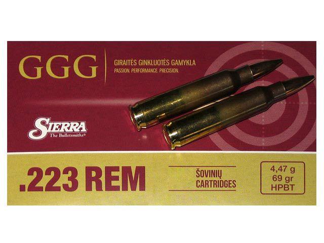 GGG cal.223 Rem SIERRA HPBT Matchking 69gr /20