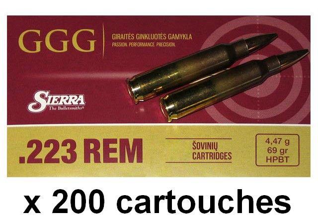 GGG cal.223 Rem SIERRA HPBT Matchking 69gr /200