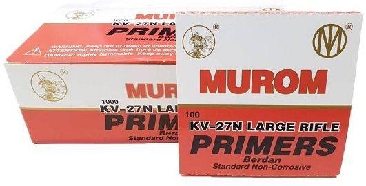 Amorces Berdan MUROM Standard Primers KV-27N Large Rifle /100