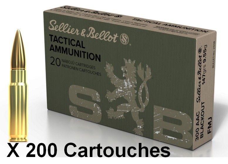 SELLIER BELLOT cal.300 AAC BLACKOUT FMJ 147gr /200
