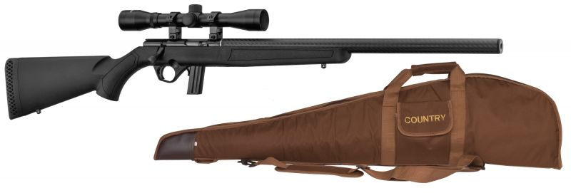 Carabine 22LR MOSSBERG Plinkster 802 synthetique carbone ''Pack Silence''