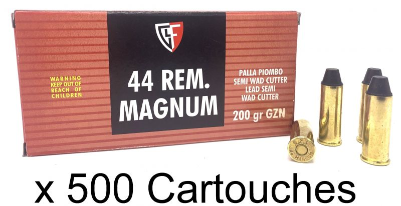 FIOCCHI cal.44 Rem Mag WAD CUTTER 200 grains /500