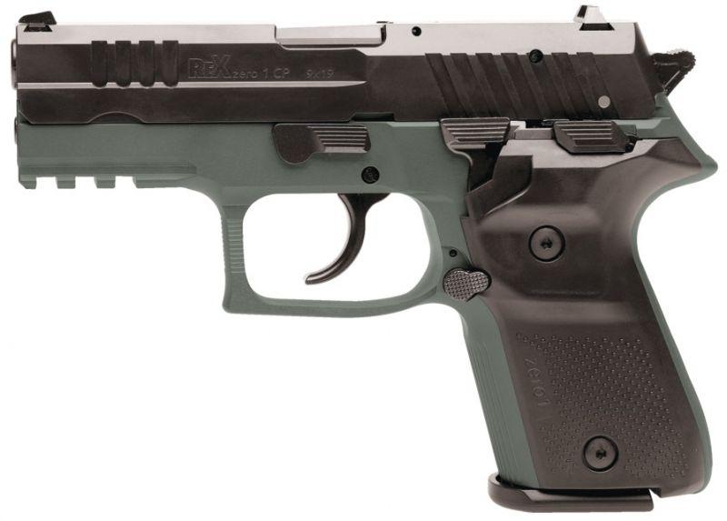 Pistolet REX ZERO1 Compact Green cal.9x19