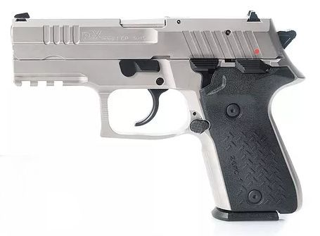 Pistolet REX ZERO1 Compact Nickelé cal.9x19