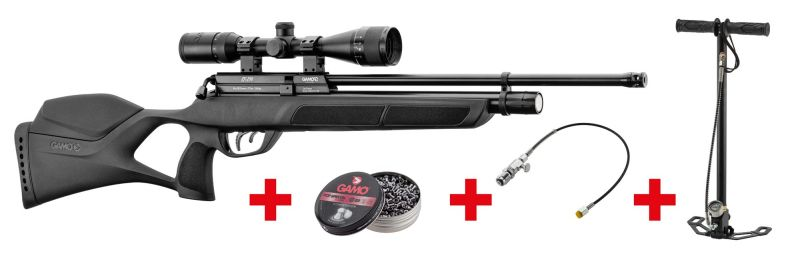 Carabine PCP GAMO GX 250 Synthétique 8 coups (60 J) cal.6,35mm