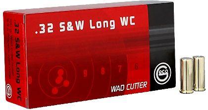 GECO cal.32 S&W Long WAD CUTTER (92gr)