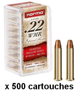 NORMA 22 Magnum Hollow Point 40 gr /500 cartouches