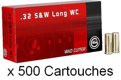GECO cal.32 S&W Long WAD CUTTER (92gr) /500