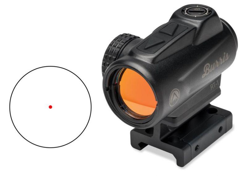 Point rouge BURRIS RT-1 Red-Dot (2 MOA) avec rail picatinny