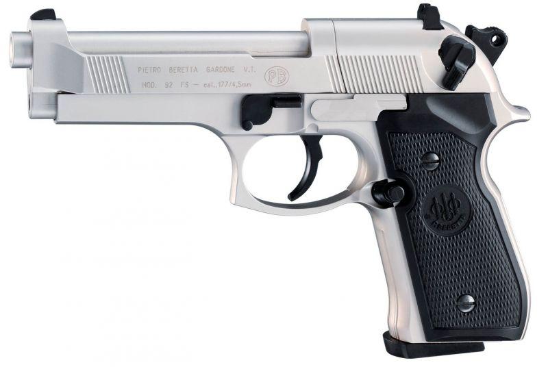 Pistolet BERETTA M92 FS 5'' Nickelé UMAREX Cal.4,5mm