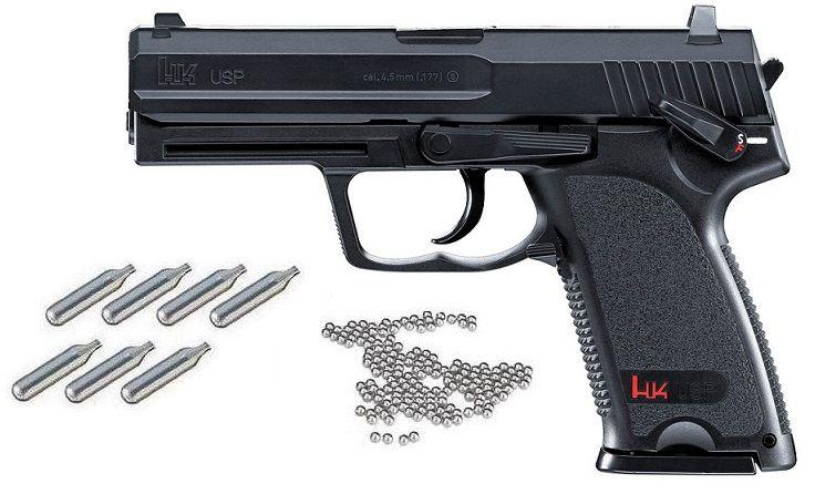 Pistolet HK USP ''Pack'' UMAREX cal.4,5mm BB'S (22 coups)