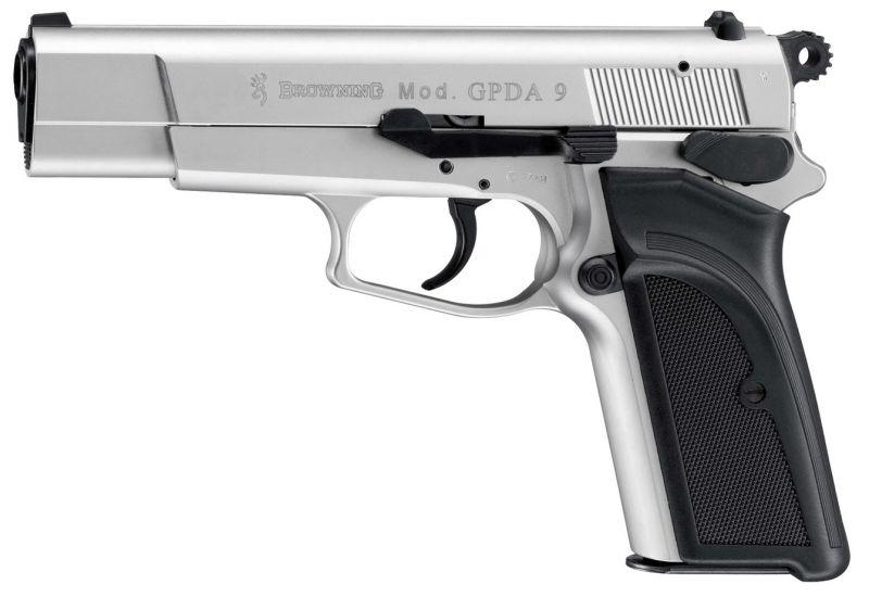 Pistolet BROWNING GPDA Nickelé Mat UMAREX cal.9mm P.A.K