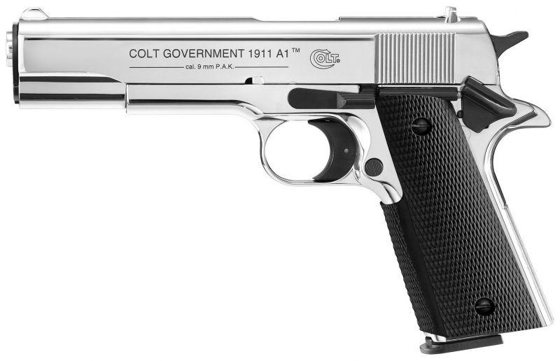 Pistolet d'alarme COLT GOVERNEMENT1911 A1 Chromé UMAREX cal.9mm P.A.K