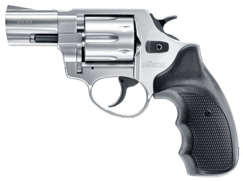 Revolver à blanc RÖHM RG 89 Chromé cal.9mm R