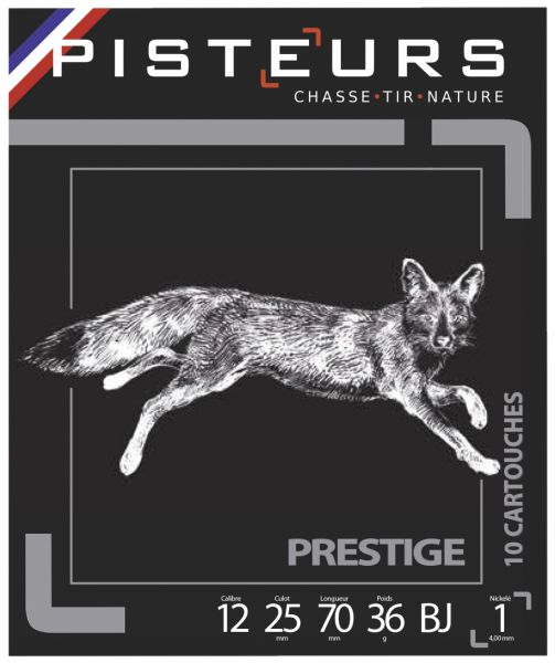 Cartouches PISTEUR Prestige Nickelé cal.12/70 36gr n°1 (boite de 10)