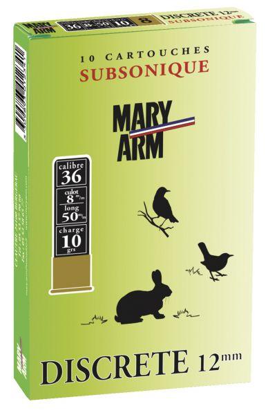 Cartouches subsonique MARY ARM Discrète 12mm n°6