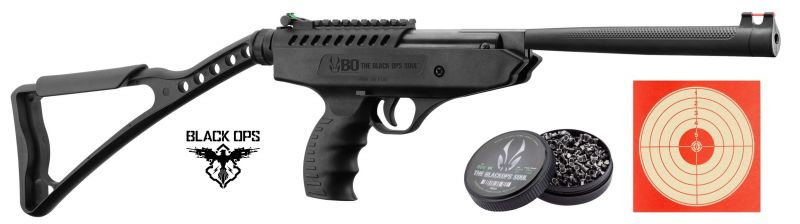 "Pistolet à plombs BLACK OPS Langlay Pro Sniper (13.7 joules) ""Pack Loisir"" cal.4,5mm"