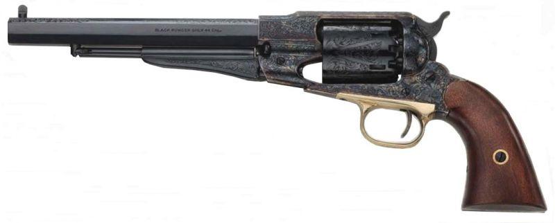 Revolver à Poudre Noire Pietta REMINGTON 1858 New Army Jaspé Harned Deluxe