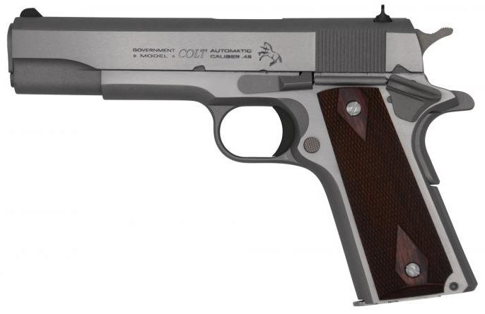Pistolet COLT 1911 GOVERNMENT Stainless cal.45 ACP