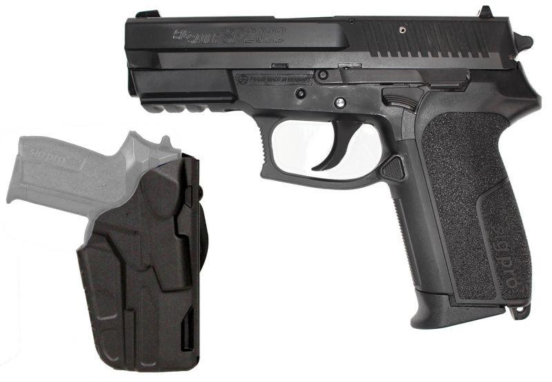 Pistolet SIG SAUER SP2022 avec holster Safariland cal.9x19