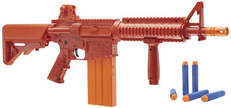 Fusils d'assault CO2 REKT OPFOUR Rouge à fléchettes mousse