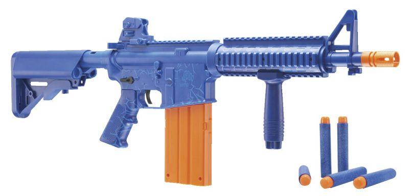 Fusils d'assault CO2 REKT OPFOUR Bleu à fléchettes mousse