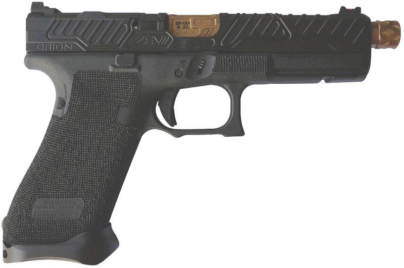 Pistolet custom ZEV G17 Gen.5 ORION Fileté Black/Bronze cal.9x19