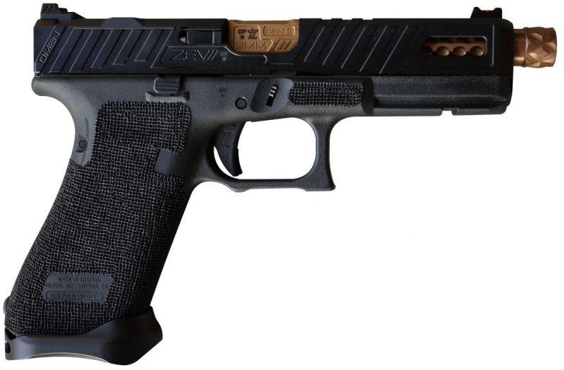 Pistolet custom ZEV G17 Gen.5 OMEN Fileté Black/Bronze cal.9x19