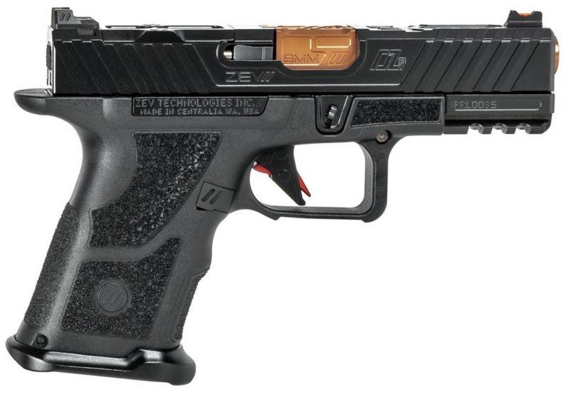 Pistolet custom ZEV OZ9 COMPACT Black/Bronze cal.9x19