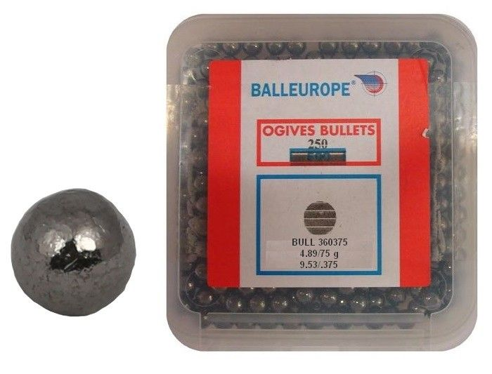 Boite de 250 Balles BALLEUROPE 375gr Cal.36