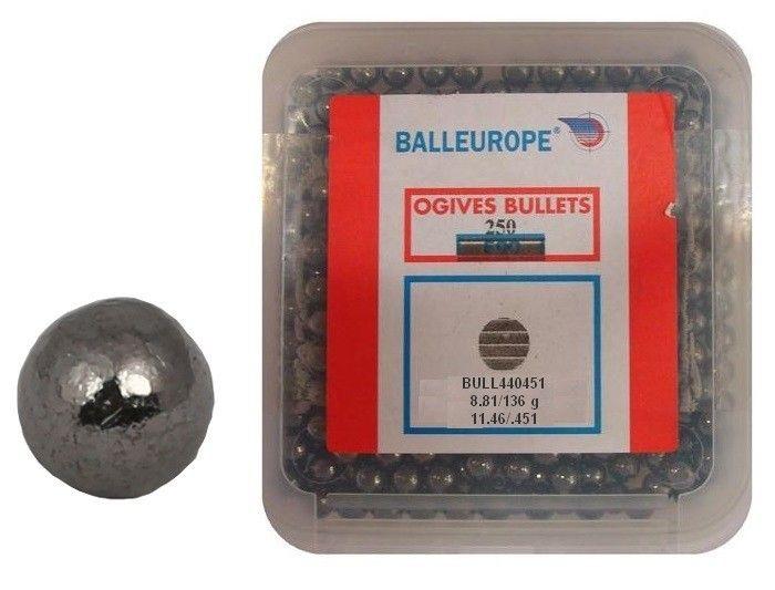 Boite de 250 Balles BALLEUROPE Cal.44 (.451)