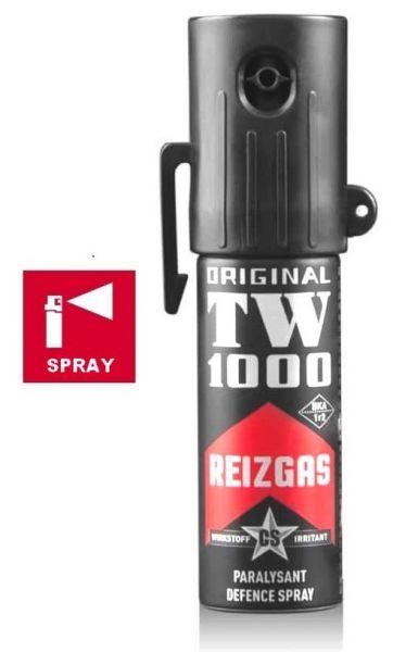Bombe lacrymogène TW1000 Spray CS Lady