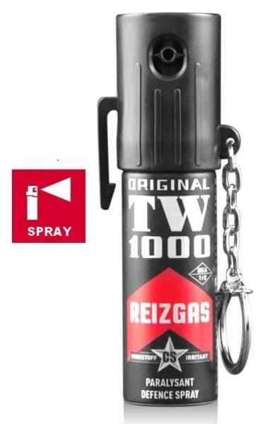 Bombe lacrymogène TW1000 Spray CS Lady porte-clés