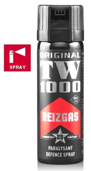 Bombe lacrymogène TW1000 Spray CS Standard