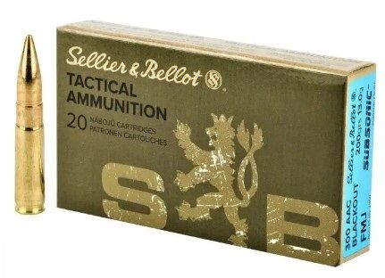 SELLIER BELLOT cal.300 AAC BLACKOUT FMJ Subsonic 200gr /20